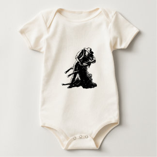 Shearer Shearing Sheep Woodcut Baby Bodysuit