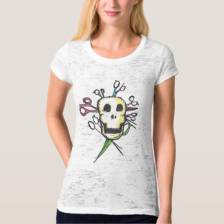Shears and Skull Hairstylist Shirt