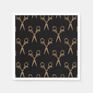Shears (gold) disposable napkins