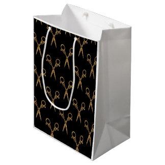Shears (gold) medium gift bag