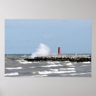 Sheboygan lighthouse poster