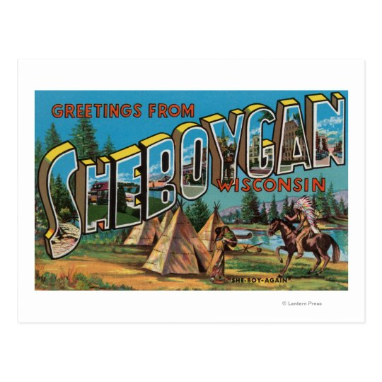 Sheboygan, Wisconsin (Indians # 2) Postcard