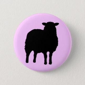 SHEEP 2 INCH ROUND BUTTON