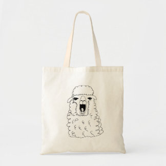 Sheep alpaca tote bag