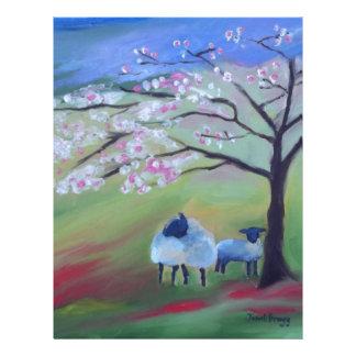 Sheep and Cherry Tree Letterhead