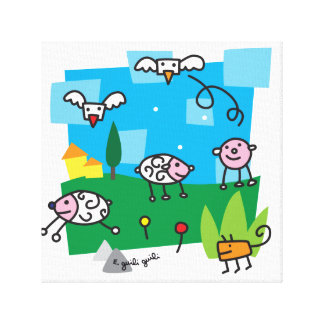 sheep and Co Canvas Print
