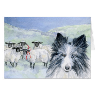 Sheep and Shepherd Card