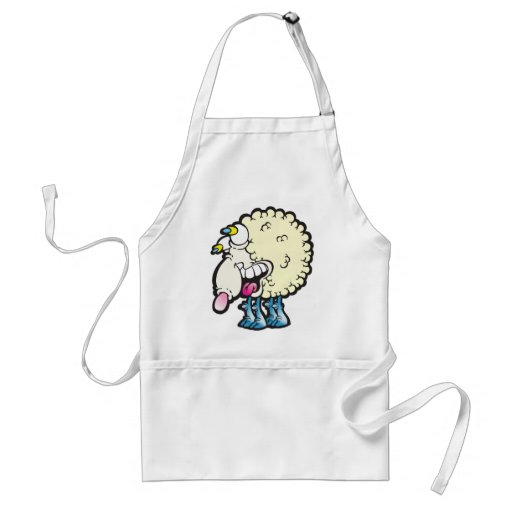Sheep. Baaah (cough ). Apron