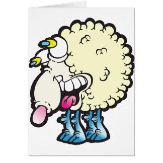 Sheep. Baaah (cough ). Greeting Card