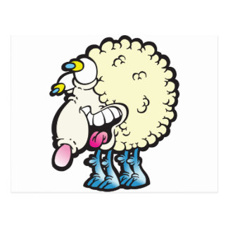 Sheep. Baaah (cough ). Postcard