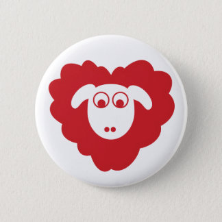 Sheep badge 2 inch round button