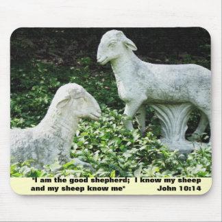 Sheep Bible Verse Mouse Pad