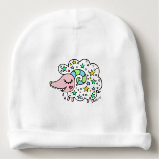 Sheep (both sides) of star handle baby beanie
