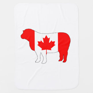 Sheep Canada Baby Blanket