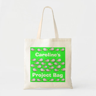 Sheep Cartoon Project Bag to Personalise
