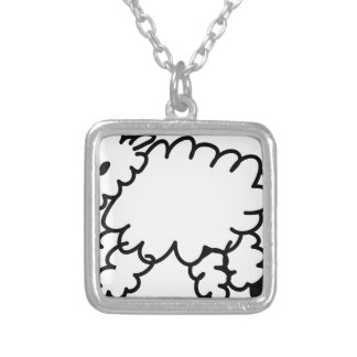 Sheep Cartoon Silver Plated Necklace