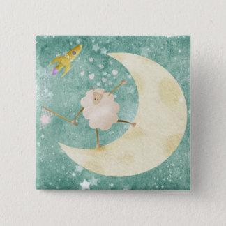 Sheep catching stars - pin badge