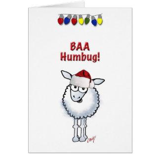 Sheep Christmas BAA Humbug Card