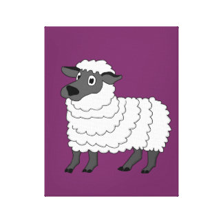 Sheep design stationery stretched canvas prints