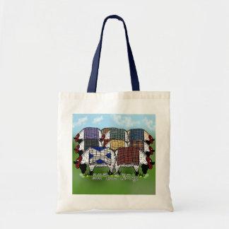 Sheep Designer Scottish Bag - Plaid Sheep