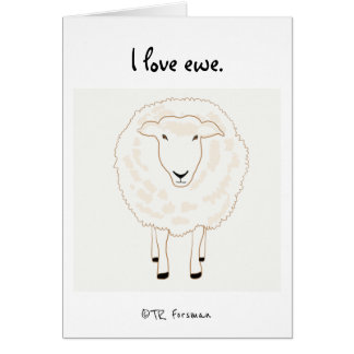 Sheep drawing simple lines w sig card