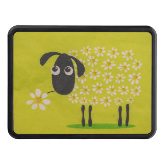 Sheep drawing trailer hitch cover