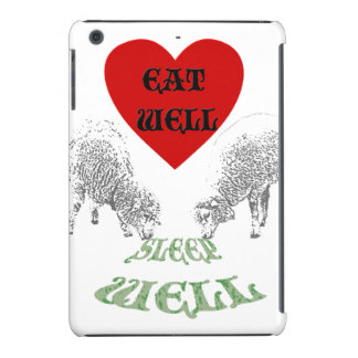 "Sheep ""Eat Well to Sleep Well"" iPad Mini Retina Case"