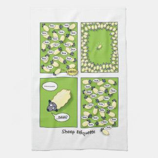 Sheep Etiquette Kitchen Towel