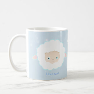 Sheep Face Farm Animal Cute I Love Eew Mug