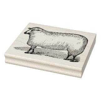 Sheep Facing Left Vintage Rubber Art Stamp