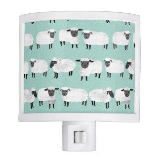 Sheep Farm Animal Sleep Pastel Mint /Andrea Lauren Nite Light