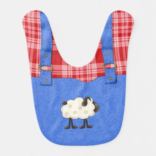 Sheep Farmer Baby Bib