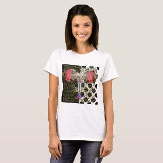 sheep&flower chimera collage T-shirt sheep flower