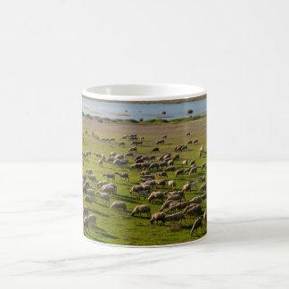 Sheep Goats Shepherd Vistonida Lake Landscape Coffee Mug