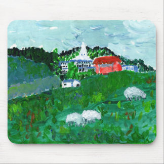 Sheep in a New England landscape mousepad