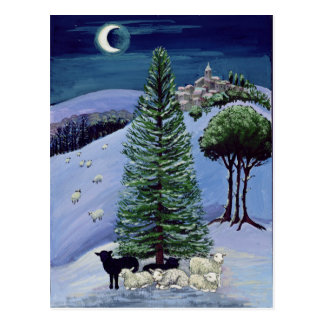 Sheep in a Winter Landscape Postcard