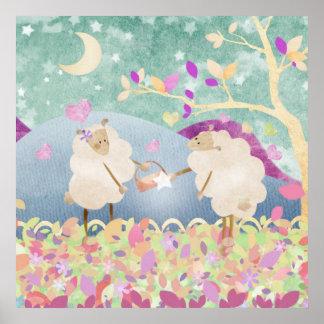 Sheep jewel for Ewe - poster print