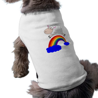 Sheep jumping the rainbow shirt