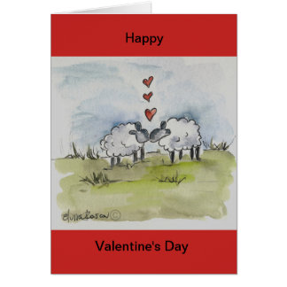 Sheep kissing card
