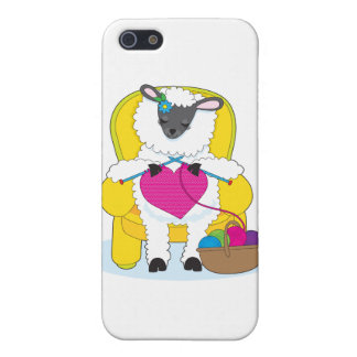 Sheep Knitting Heart iPhone 5/5S Covers