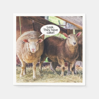 Sheep Love Cake Disposable Napkins