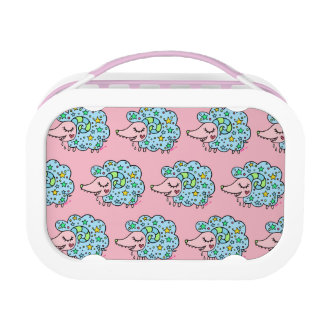 Sheep of star handle (blue) lunch box