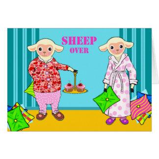 Sheep Over, Sleep Over Party Invitation, Sheep Card