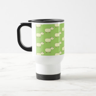 Sheep Pattern. Travel Mug