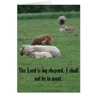 Sheep, Psalm, Peace, Joy, Love Greeting Card