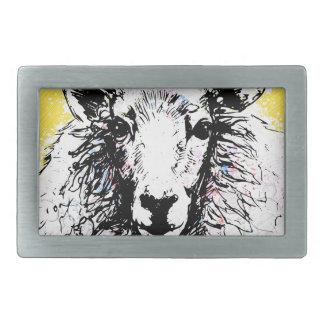 Sheep Rectangular Belt Buckle