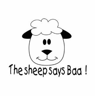 Sheep Says Baa Photo Sculpture Ornament