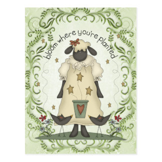 Sheep sentiment fun cartoon postcard