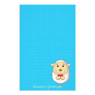 Sheep Stationery blue