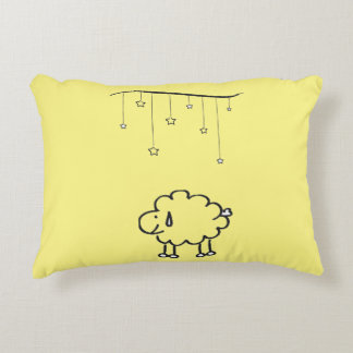 Sheep under the stars accent pillow